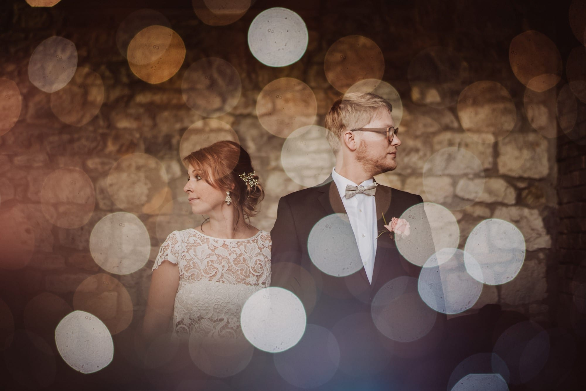 01 double Exposure Wedding photography light spots - Doppelbelichtungen in der Hochzeitsfotografie