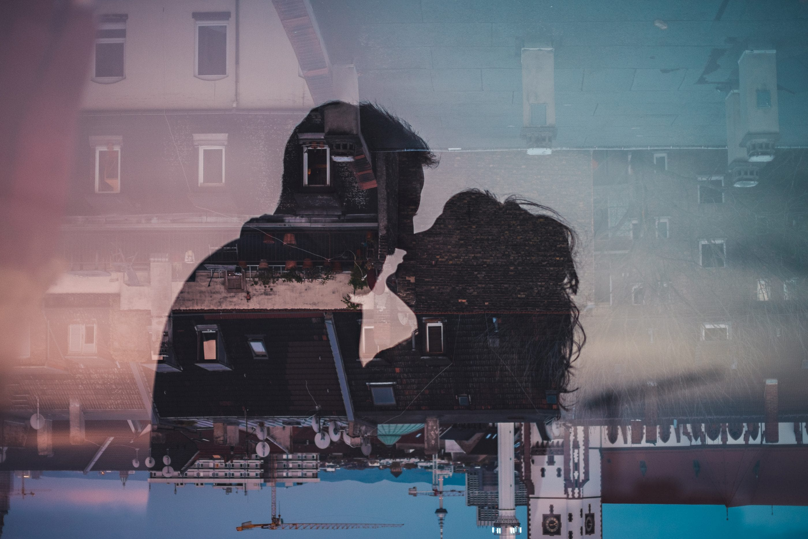 anniversary couple photos 120 double exposure - Anniversary Photoshooting in Mannheim