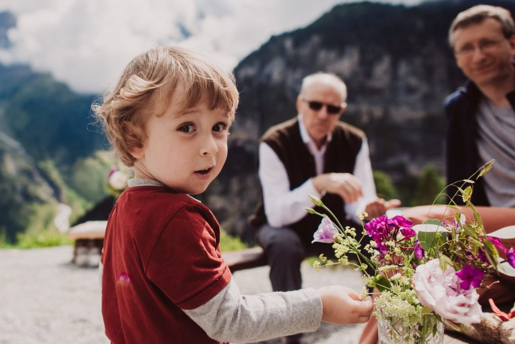 52 mountain wedding switzerland little boy 1024x684 - Mountain Wedding Switzerland