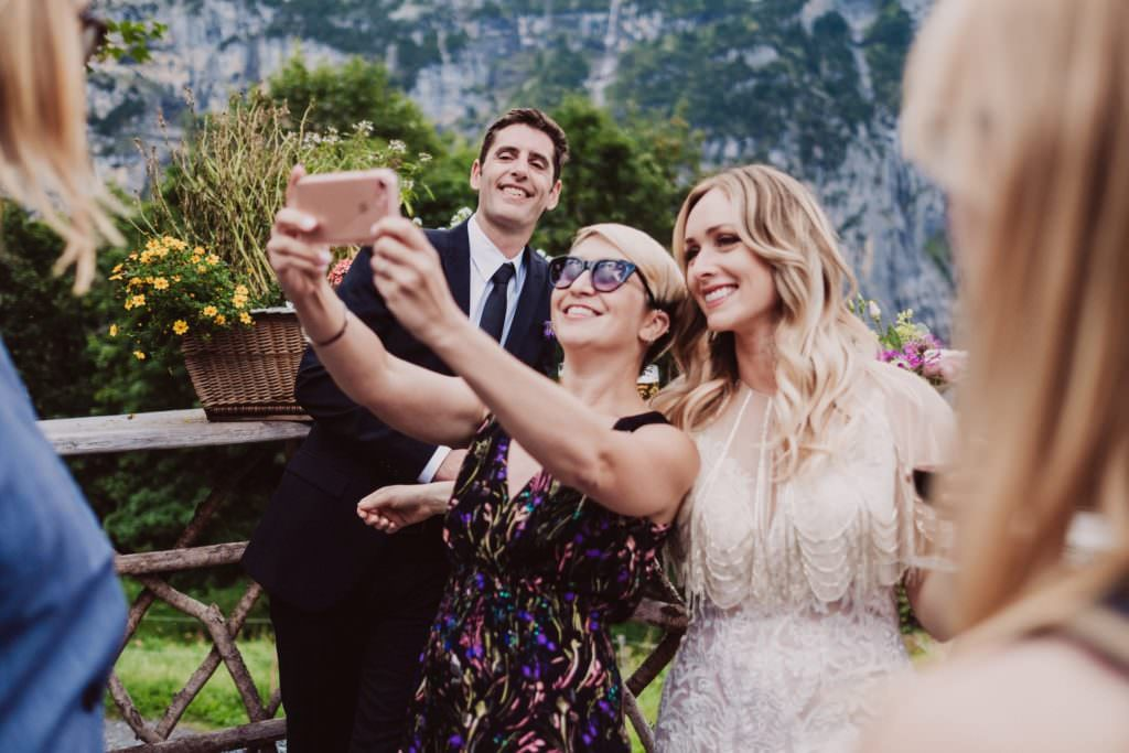 63 mountain wedding switzerland selfie 1024x683 - Mountain Wedding Switzerland