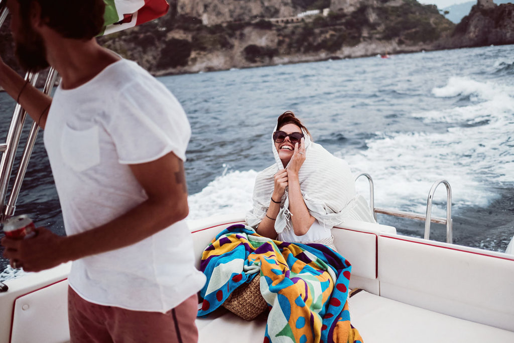 0154 italian wedding photographer elopement positano boat cold